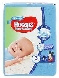 Хаггис ультра комфорт подгузники для мальчиков 3 (5-9кг) 21 шт.