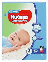 Хаггис ультра комфорт подгузники для мальчиков 3 (5-9кг) 94 шт.