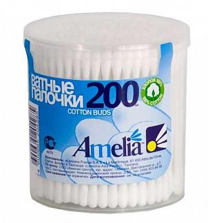 Амелия ватные палочки 200 шт.
