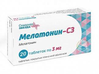 Мелатонин-сз 3мг 20 шт. таблетки покрытые пленочной оболочкой