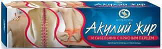 Акулий жир крем для спины и поясницы сабельник с красным перцем 75мл твинс тэк