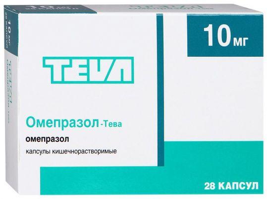 Омепразол-тева 10мг 28 шт. капсулы кишечнорастворимые, фото №1