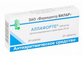 Аллафорте 25мг 20 шт. таблетки пролонгированного действия