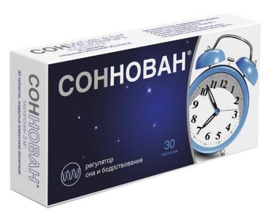 Соннован 3мг 30 шт. таблетки покрытые пленочной оболочкой, фото №1
