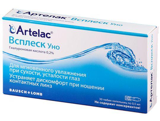 Артелак всплеск уно раствор офтальмологический увлажняющий 0,5мл 30 шт., фото №1