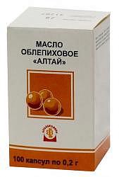 Масло облепиховое 0,2г 100 шт. капсулы