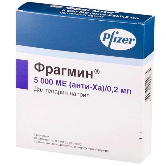 Фрагмин 5000ме/0,2мл 10 шт. раствор для инъекций vetter pharma-fertigung, фото №1