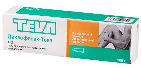 Диклофенак-тева 1% 100г гель для наружного применения, фото №1