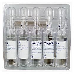 Гордокс 10тыс.кие/мл 10мл 5 шт. раствор для внутривенного введения