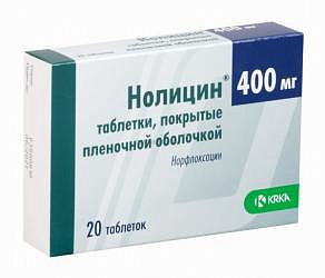 Нолицин 400мг 20 шт. таблетки покрытые пленочной оболочкой