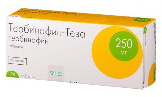 Тербинафин-тева 250мг 28 шт. таблетки, фото №1