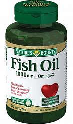 Нэйчес баунти капсулы 1000мг рыбий жир омега-3 50 шт.