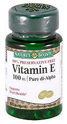 Нэйчес баунти капсулы витамин е 100 ме 100 шт.