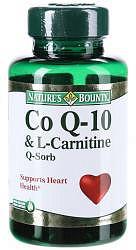 Нэйчес баунти капсулы коэнзим q-10 и l-карнитин 60 шт.