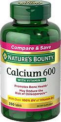 Нэйчес баунти таблетки кальций 600 с витамином д 60 шт.
