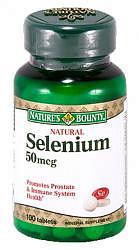 Нэйчес баунти таблетки 50мкг селен натуральный 100 шт.