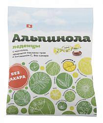 Альпинола леденцы без сахара ментол/травы/витамин с 75г
