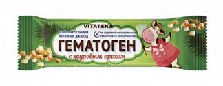 Витатека гематоген с кедровым орехом 40г фарм-про