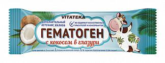 Витатека гематоген с кокосом в шоколадной глазури 40г