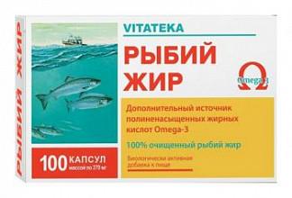 Витатека рыбий жир капсулы 0,37г 100 шт.