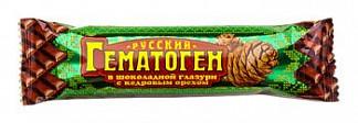 Гематоген русский с кедровым орехом в шоколадной глазури 40г