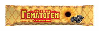 Гематоген русский с семечками 40г