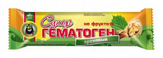 Гематоген супер ореховый на фруктозе 35г