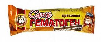 Гематоген супер ореховый со сгущеным молоком в шоколадной глазури 35г