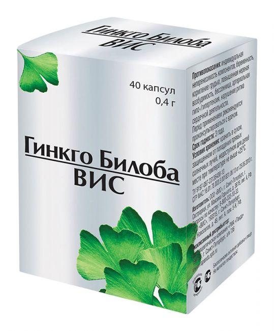 Гинкго билоба- вис капсулы 40 шт., фото №1