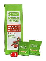 Лакомства для здоровья мармелад живые конфеты брусника 170г