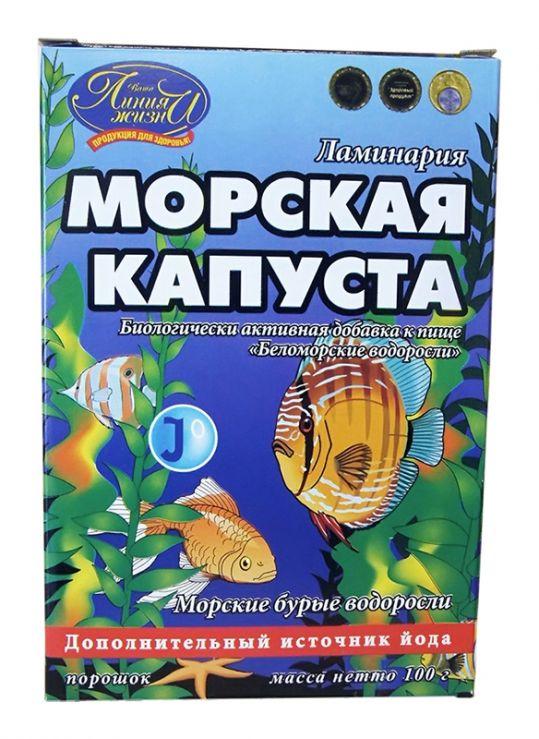Линия жизни беломорские водоросли порошок ламинария 100г, фото №1