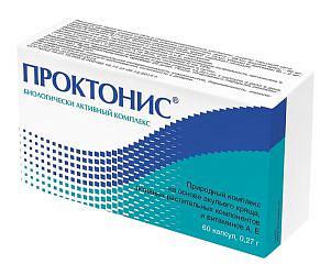 Проктонис капсулы 270мг 60 шт.