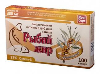 Рыбий жир реалкапс облепиха капсулы 100 шт.
