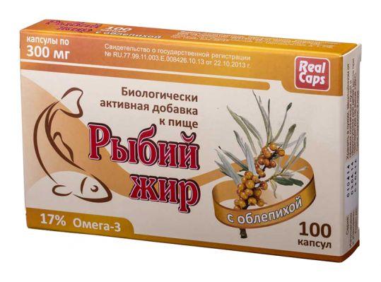 Рыбий жир реалкапс облепиха капсулы 100 шт., фото №1