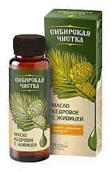 Сибирская чистка масло кедровое с живицей 100мл алтайский букет