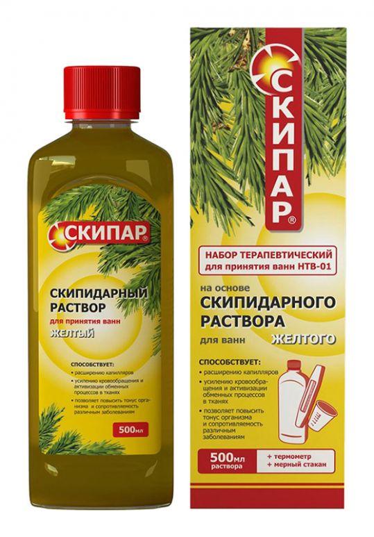 Скипар скипидарная эмульсия для ванн желтая 500мл, фото №1