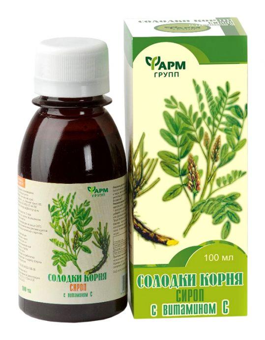 Солодки корня сироп с витамином c 100мл, фото №1