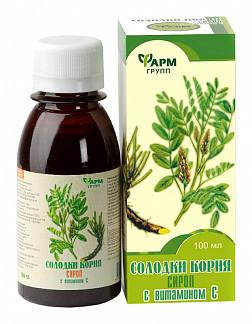 Солодки корня сироп с витамином c 100мл