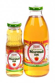 Стэлмас сок яблочный осветленный 0,73л