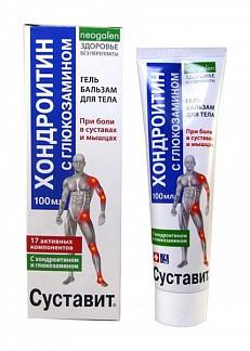 Суставит гель-бальзам хондроитин с глюкозамином 100мл
