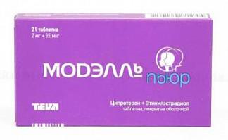 Модэлль пьюр 2мг+0,035мг 21 шт. таблетки покрытые оболочкой