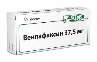 Венлафаксин 37,5мг 30 шт. таблетки
