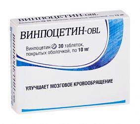 Винпоцетин-obl 10мг 30 шт. таблетки покрытые оболочкой