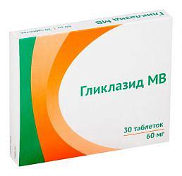 Гликлазид мв 60мг 30 шт. таблетки модифицированного высвобождения