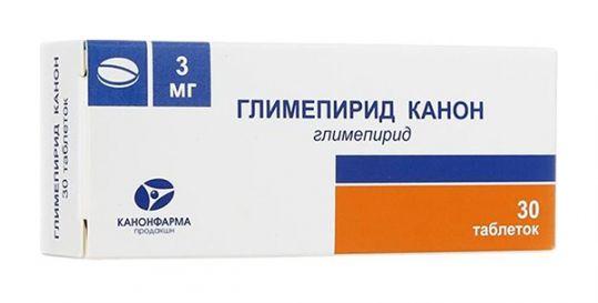 Глимепирид канон 3мг 30 шт. таблетки, фото №1