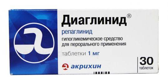 Диаглинид 1мг 30 шт. таблетки, фото №1
