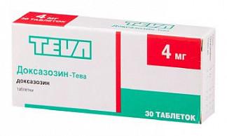 Доксазозин-тева 4мг 30 шт. таблетки
