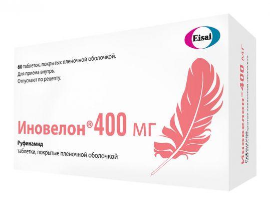 Иновелон 0,4г 60 шт. таблетки покрытые пленочной оболочкой, фото №1