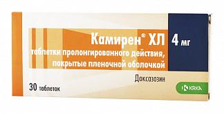 Камирен хл 4мг 30 шт. таблетки пролонгированного действия, покрытые пленочной оболочкой