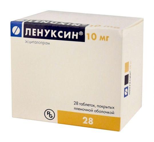 Ленуксин 10мг 28 шт. таблетки покрытые пленочной оболочкой, фото №1